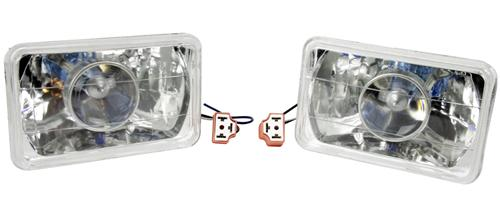 1979-86 Mustang chrome Projector Headlight, - Picture of 1979-86 Mustang chrome Projector Headlight,