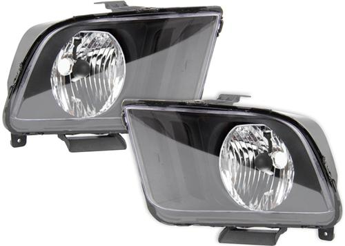 Mustang Euro Style Headlights Black (05-09)