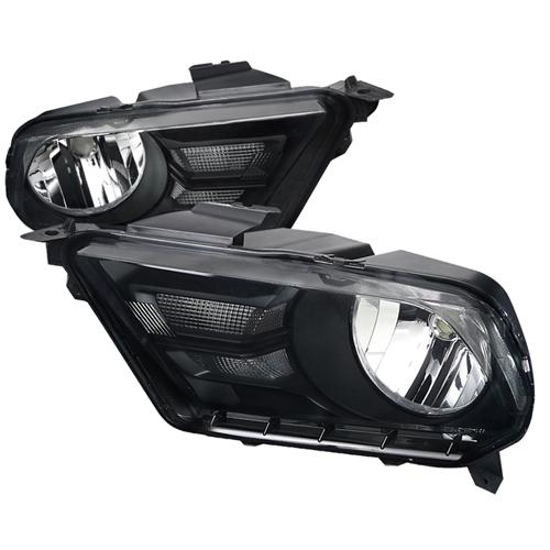 2010-14 Mustang Euro Style Headlights, Black.   Does not fit models with factory HID  Here is a link to it for info, email me for picture  http://www.specdtuning.com/lh-mst10sm-rs.html