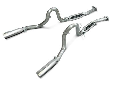 SLP Mustang Loudmouth Cat Back Exhaust System Stainless Steel (99-04) GT 4.6