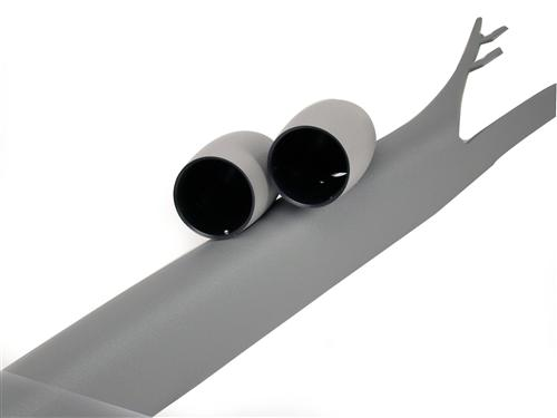 Mustang Dual Gauge Pillar, Coupe Dark Dove Gray (05-09)