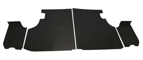 Scott Rod Mustang Trunk Floor & Side Cover Kit Black Aluminum (79-93) Coupe