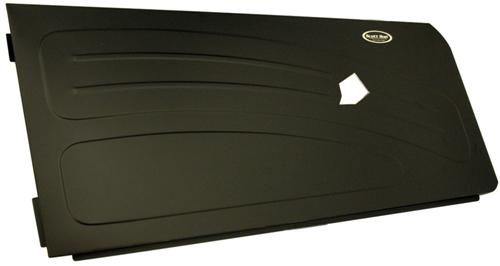 1994-2004 Mustang Black Aluminum Door Panels with Bead Roll Upgrade, Satin Black Finish, Pop Rivet Instruction. - picture of1994-2004 Mustang Black Aluminum Door Panels with Bead Roll Upgrade, Satin Black Finish, Pop Rivet Instruction.