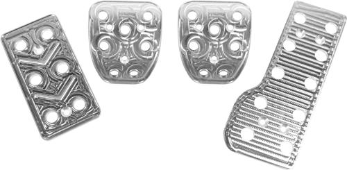 Mustang Automatic Pedal Kit, 4pc Billet Aluminum (79-04)
