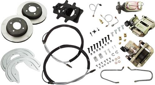 SSBC Mustang 4-Lug Rear Disc Brake Conversion Kit (1993)