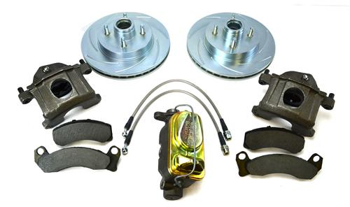 "SSBC Mustang Front Big Brake Upgrade Kit w/ 11"" Slotted Rotors (87-93)"