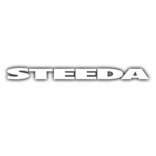 STEEDA WHITE WINDSHIELD BANNER