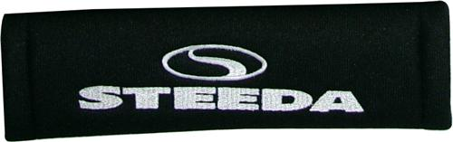 Steeda Logo Seat Belt Pad Black w/ White