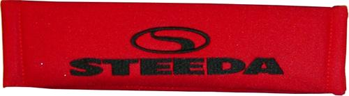 Steeda Red w/ Black Logo Seat Belt Pad