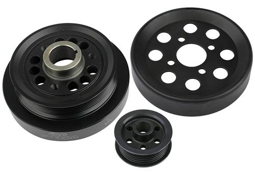 Steeda Mustang Underdrive Pulley Kit Black (96-01) GT 4.6 - Steeda Mustang Underdrive Pulley Kit