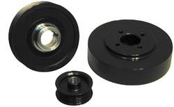 Steeda Mustang Underdrive Pulley Kit Black (01-04) GT 4.6 7010003