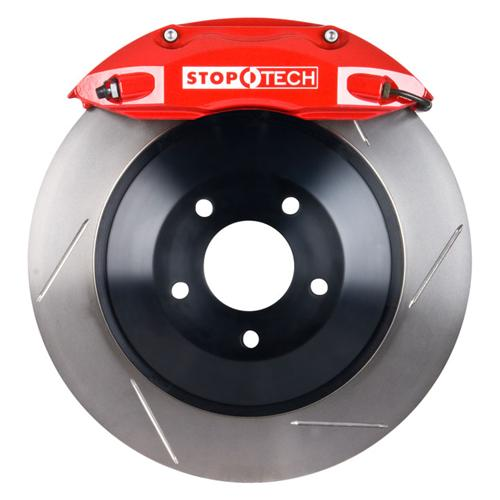 "Stop Tech Mustang Front Big Brake Kit, 14"" Rotors, 4 Piston Calipers Red (05-14) 82.330.4700.71"