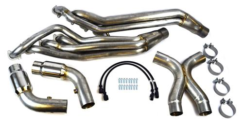 "Mustang Long Tube Headers W/ Catted 3"" X-Pipe (13-14) GT500"