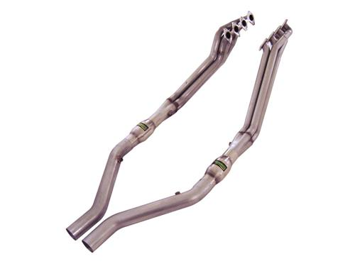 "Mustang Headers w/ 3"" High Flow Cats & Lead Pipes (05-10) GT"