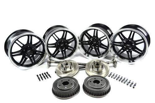 SVE Mustang 10th Anniversary Wheel & 5 Lug Conversion Kit Black (79-93)