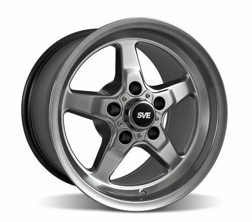 SVE Mustang Drag Wheel 15X10 Dark Stainless (94-04)