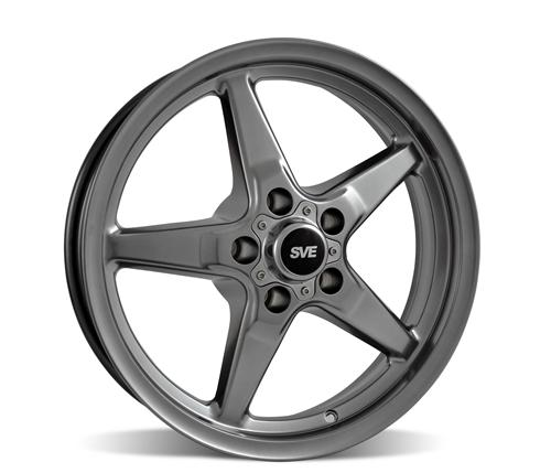 SVE Mustang Drag Wheel 17X4.5 Dark Stainless (94-14)