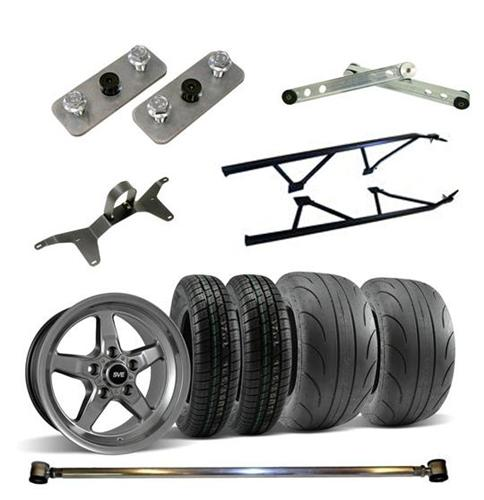 2005-14 SVE Wheel Tire And Drag Pack Kit Dark Stainless 15X10 17X4.5 - Picture of 2005-14 SVE Wheel Tire And Drag Pack Kit Dark Stainless 15X10 17X4.5