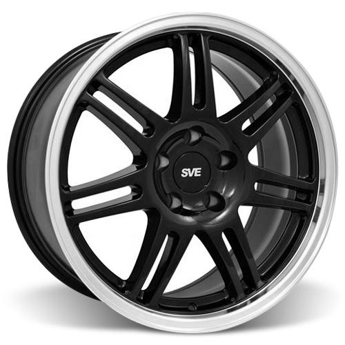 SVE Mustang Anniversary Wheel - 17x9 Black W/ Machined Lip (94-04)