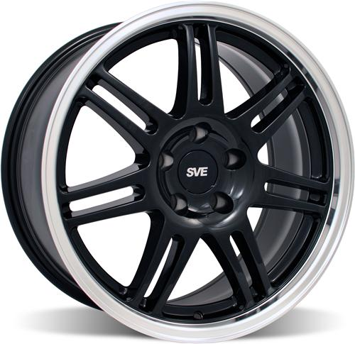 SVE Mustang Anniversary Wheel - 18x9 Black W/ Machined Lip (94-04)