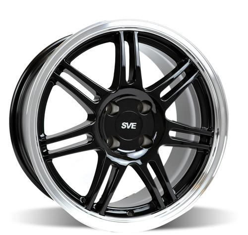 SVE Mustang Anniversary Wheel - 17x9 Black W/ Machined Lip (79-93)