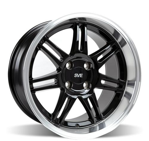 SVE Mustang Deep Dish Anniversary Wheel - 17x10 Black W/ Machined Lip (79-93)