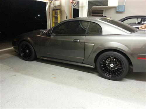 SVE Mustang Series 1 Wheel Kit Gloss Black (94-04) - Picture of SVE Mustang Series 1 Wheel Kit Gloss Black (94-04)