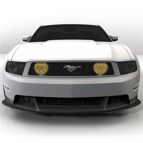 Mustang Yellow Fog Light Tint (10-12) GT - Picture of Mustang Yellow Fog Light Tint (10-12) GT