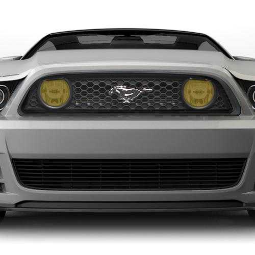 Mustang Yellow Fog Light Tint (13-14) GT - Mustang Yellow Fog Light Tint