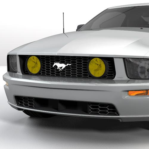 Mustang Yellow Fog Light Tint (05-09) GT - Yellow Fog Light Tint