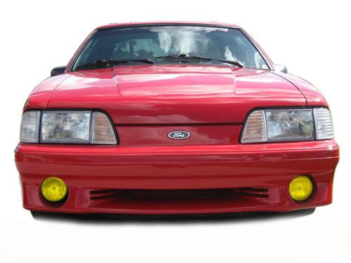 1987-93 Mustang GT Yellow Fog Light Tint.  This Is Our Yellow Tinted Decal for The GT Fog Light. Photoshop or Get Pic From Jeff O. - Picture of 1987-93 Mustang GT Yellow Fog Light Tint.