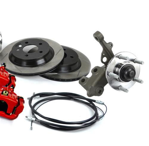SVE Mustang 5-Lug Conversion Kit, 28 Spline Red (87-92)