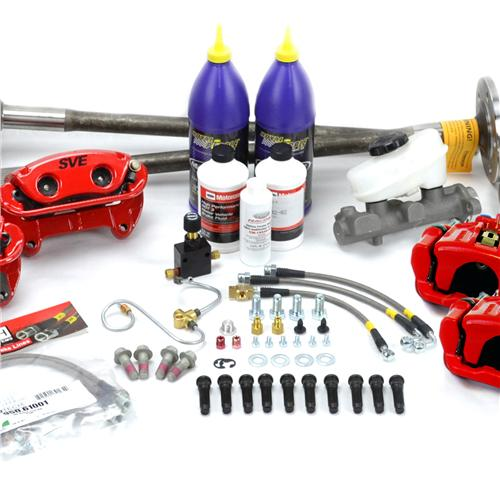 SVE Mustang 5-Lug Conversion Kit - 28 Spline Red (87-92)