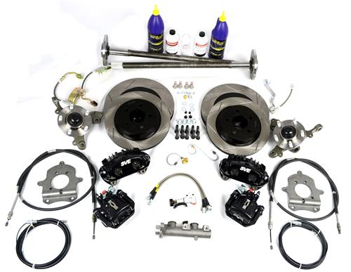 SVE Mustang 5-Lug Conversion Kit, 28 Spline Black (93-93)