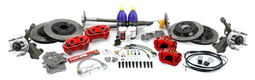 SVE  Mustang  5-Lug Conversion Kit, 28 Spline Red (93-93)