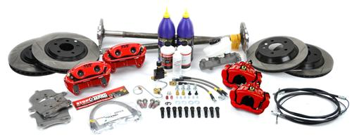 SVE  Mustang  5-Lug Conversion Kit, 28 Spline Red (93-93) - SVE  Mustang  5-Lug Conversion Kit, 28 Spline Red (93-93)