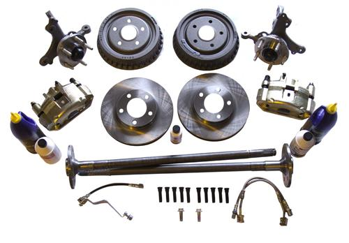 "79-93 Mustang SN95 11"" Front 5 lug Brake Conversion with Rear Drums use on 79-86 5.0 or 79-93 2.3 requires the use of 87-93 5.0 front struts."