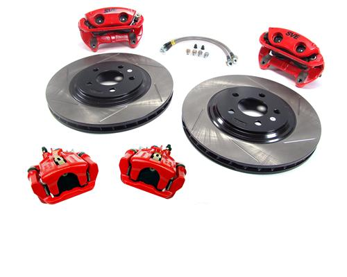 "SVE Mustang 13"" Cobra Style Front & Rear Brake Kit  Red (94-04)"