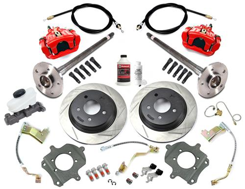 SVE Mustang 5 Lug Rear Disc Only Conversion Kit, 28 Spline Red (87-92)