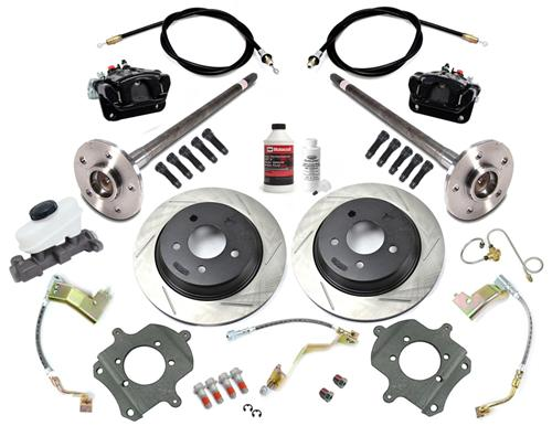 SVE Mustang 5-Lug Rear Disc Conversion Kit, 28 Spline Black (1993) - SVE Mustang 5-Lug Rear Disc Conversion Kit, 28 Spline Black (1993)