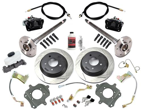 SVE Mustang 5-Lug Rear Disc Conversion Kit, 31 Spline Black (87-92)