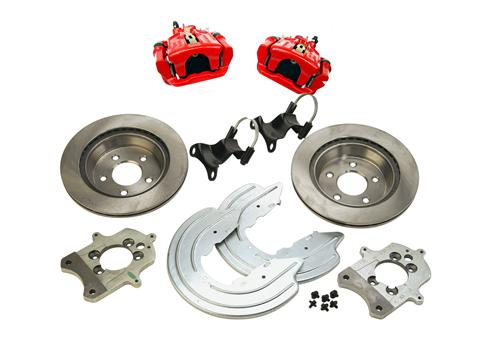 SVE Mustang Cobra Rear Brake Conversion Red (94-04) GT-V6