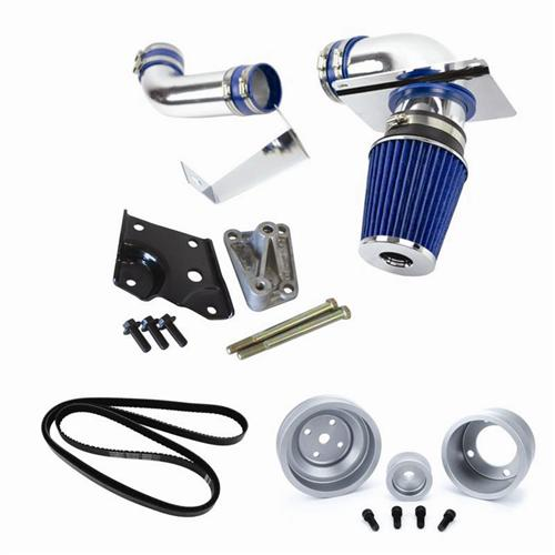 1989-93 Mustang 5.0 SVE Performance Starter Kit w/ Clear Pulleys - Picture of 1989-93 Mustang 5.0 SVE Performance Starter Kit w/ Clear Pulleys