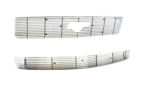 Mustang V6 Upper & Lower Billet Grilles Polished (05-09) V6