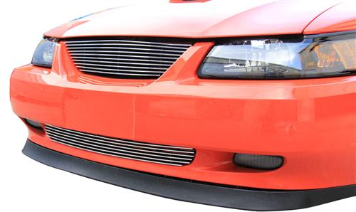 SVE  Mustang Billet Upper & Lower Grille Kit w/o Pony Polished (99-04) - Picture SVE  Mustang Billet Upper & Lower Grille Kit w/o Pony Polished (99-04)