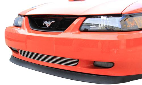 SVE Mustang Billet Lower Grille Polished (99-04) - Picture of SVE Mustang Billet Lower Grille Polished (99-04)