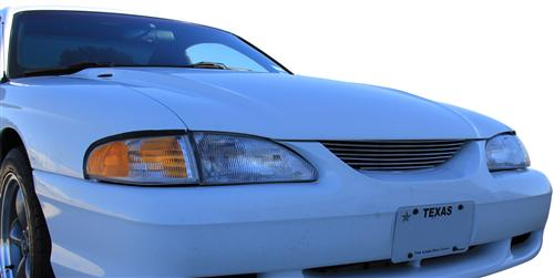 SVE Mustang Billet Grille W/O Pony Polished (94-98) - Picture of SVE Mustang Billet Grille W/O Pony Polished (94-98)
