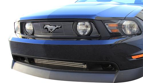 2010-12 Ford Mustang GT Polished Billet Grille with Pony Opening