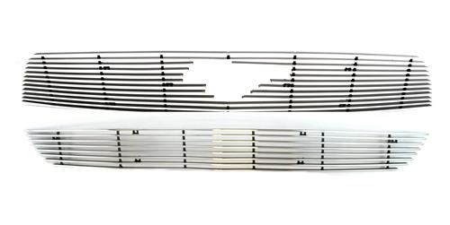 Mustang V6 Upper & Lower Polished Billet Grille (10-12)