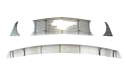 2010-12 Ford Mustang GT Upper and Lower Polished Billet Grille with Pony Opening
